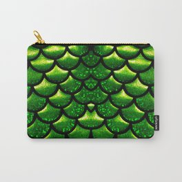 Mermaid Scales - Emerald Green and Black Carry-All Pouch