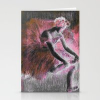 degas Stationery Cards featuring ballerina. by PureVintageLove