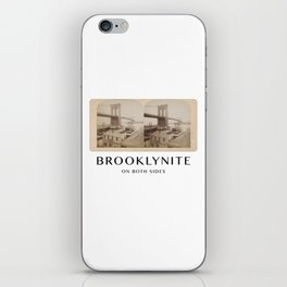 BROOKLYNITE on both sides iPhone Skin