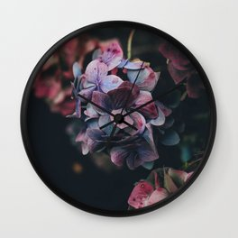 FLOWERS - FLORAL - PINK - RED - PHOTOGRAPHY Wall Clock