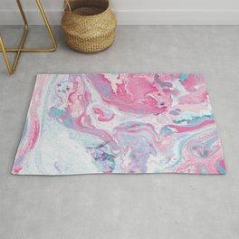 Pink & Blue Marble Rug