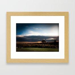 Sunset Meadow Vineyard Framed Art Print