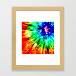 Tie Dye Meets Watercolor Framed Art Print