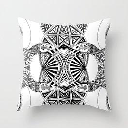 Black & White Harmony Throw Pillow