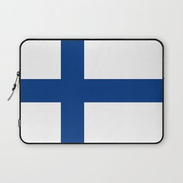 Flag of Finland - High Quality Image Laptop Sleeve