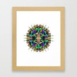 Flower Stellation  Framed Art Print