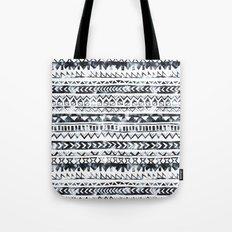 Tribal Stripe - B & W Tote Bag