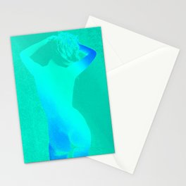 Carefree Nude Teal Blue Stationery Cards