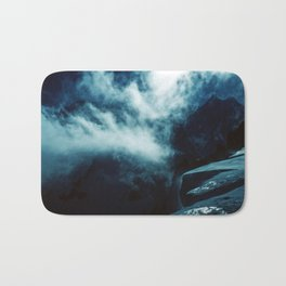 SHADES OF BLUE - Up in the icy mountains Bath Mat