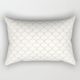 Mermaid Scales in Gold Rectangular Pillow