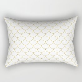 Mermaid Scales in Gold Rectangular Pillow