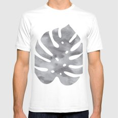 monstera leaf White Mens Fitted Tee MEDIUM