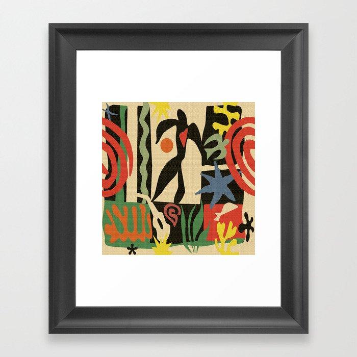 Inspired to Matisse (vintage) Gerahmter Kunstdruck