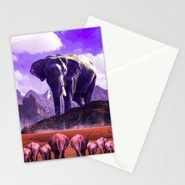 The elephant desert Stationery Cards