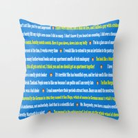anchorman Throw Pillows featuring Anchorman Quotes by Dr. Spaceman40