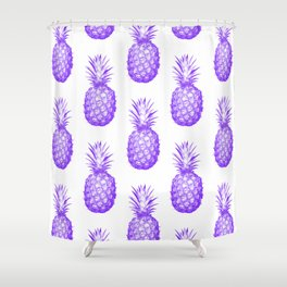 Purple Pineapple Shower Curtain