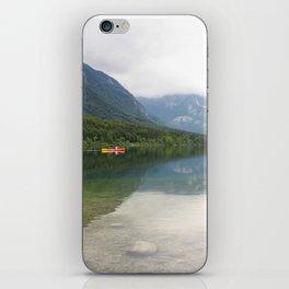 Kayaking on Lake Bohinj iPhone Skin