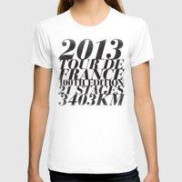 tour de france T-shirts featuring 2013 Tour de France: Maillot Jaune by Dushan Milic