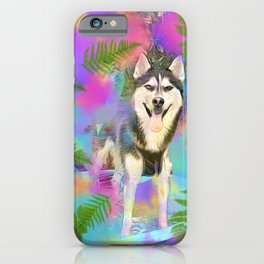 Summer Husky iPhone Case