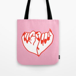 Best Friend Galentine's Day Pinky Promise Solo in Pink Tote Bag