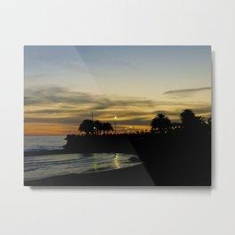 Sunset in Montevideo Coast Metal Print