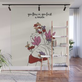 flower and feast Wall Mural