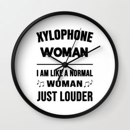 Xylophone Woman Like A Normal Woman Just Louder Wall Clock