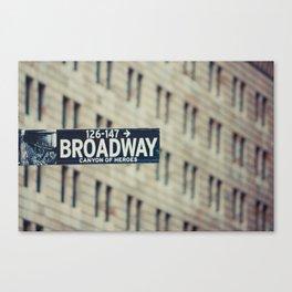 New York: Broadway Canvas Print