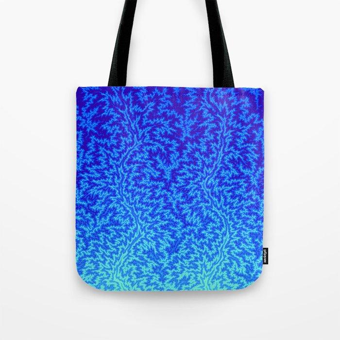 Fractal Gradient WATER Tote Bag