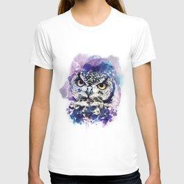 owl watercolor T-shirt