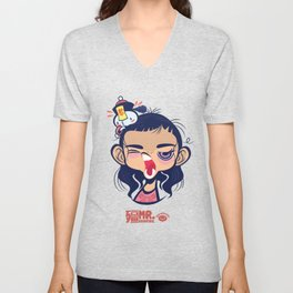 Sleepy Taoist Priest Unisex V-Neck