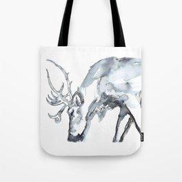 Watercolor Reindeer Sketch Tote Bag