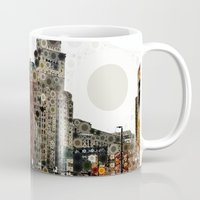 cleveland Mugs featuring Downtown Cleveland by Rachel Barrett