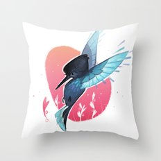 Little Hummer Throw Pillow