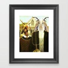 Gothic Jackalopes Framed Art Print