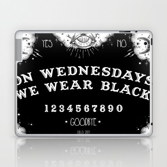 ☽ ON WEDNESDAYS WE WEAR BLACK ☾ Laptop & iPad Skin