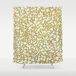 golden paisley Shower Curtain