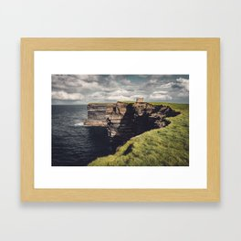 Irish Sea Cliffs Framed Art Print