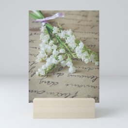 Love letter with lily of the valley Mini Art Print