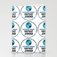 israel Stationery Cards featuring Support Israel, Defeat Jihad by politics