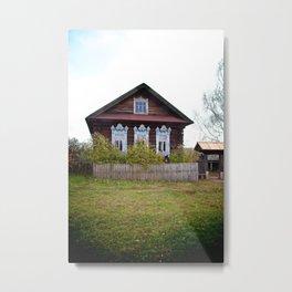 A Village House in the Mari Republic Metal Print