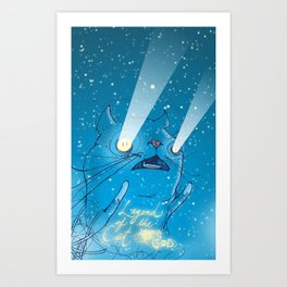Legend of the Cat God Art Print