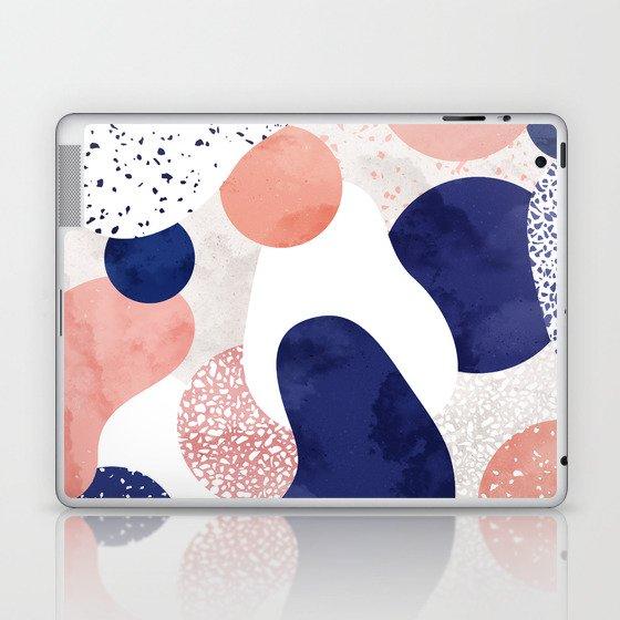 Terrazzo galaxy pink blue white Laptop & iPad Skin