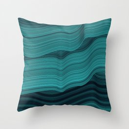 Blue waves Throw Pillow