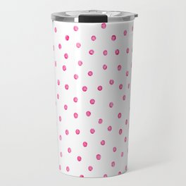 Pink Polka Dots Travel Mug