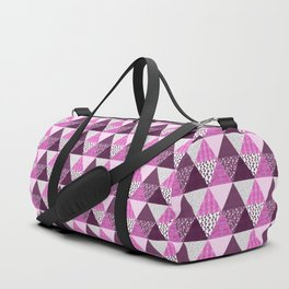 Triangle Quilt in Pink & Purple Duffle Bag