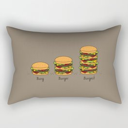 Burger explained. Burg. Burger. Burgest. Rectangular Pillow