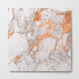 Copper Marble Metal Print