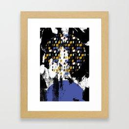 Rising moon over Disko Bay Framed Art Print