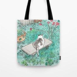 Garden Cat Tote Bag